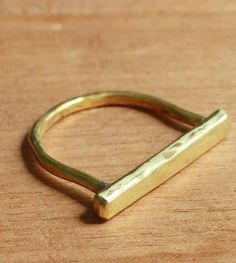 Small Ingot Brass Ring