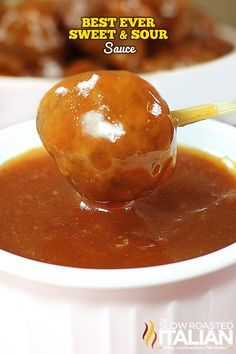 The Best Ever Sweet and Sour Sauce with more flavor than you can wrap your mouth around.  This simple recipe is ready in just 15 minutes. What more could you ask for?
