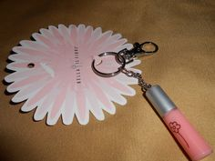 Bella il Fiore mini lip gloss key chain in light pink