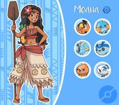 Disney Pokemon Trainer : Moana by Pavlover