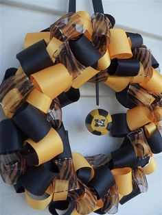 MIZZOU!  Cool wreath!