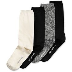Hue Women's 4-Pk. Body Socks ($16) ❤ liked on Polyvore featuring intimates, hosiery, socks, ivory marled pack, marled socks, hue socks and hue hosiery