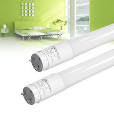 Anten 2-Pack 4ft 18W T8 LED Fluorescent Tube Light, 5000K, White, UL Approved