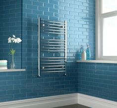 Chrome Heated Straight Rail Ladder Towel Radiator - 1000x600mm [PT-RH1000600] - £89.09 : Platinum Taps & Bathrooms Basin Sink Bathroom, Sink Taps, Towel Radiator, Mixer Taps, Bathroom Furniture, Radiators, Bathroom Accessories, Ladder, Bathrooms