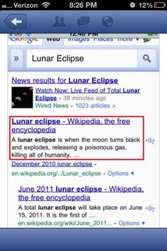 The problem with relying too heavily on Wikipedia.
