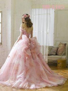 20 trendy wedding dresses beautiful back bows Stunning Dresses, Beautiful Gowns, Pretty Dresses, Pink Wedding Dresses, Wedding Gowns, Pink Gowns, Floral Wedding, The Dress, Pink Dress