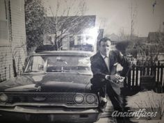 Some things will never change - men and their cars! I love the look of Steven J. Pazichuk. Recognize the model of the car? Enlarged: http://www.ancientfaces.com/photo/steven-j-pazichuk/1261405