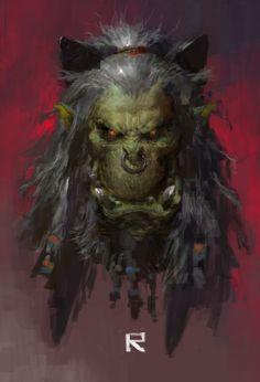 Grom Hellscream by ruan_jia (Ruan Jia) - Digital ArtLords Character Portraits, Character Art, Character Design, Character Inspiration, Creature Feature, Creature Design, Tolkien, Character Illustration, Illustration Art