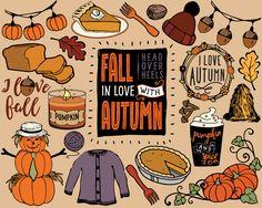 Art Clip, Fall Clip Art, Fall Drawings, Halloween Drawings, Autumn Art, Autumn Theme, Clipart, Planner Stickers, Kalender Design
