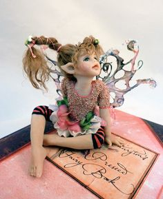 original polymer clay/mixed media sculpture/doll OOAK Hiddleston Fairy