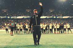 Jurgen Klopp. His last time with his team on Signal Iduna Park :,(