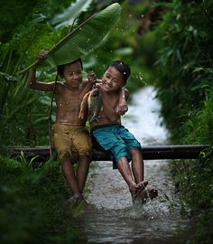 This is what I used to do when I was a kid in Philippines.  No technology just nature fun everyday.