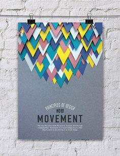 Principles of Design Poster Series / Paper Art by Efil Türk, via Behanc Principles Of Design Movement, Elements And Principles, Design Movements, Elements Of Art, Key Design, Print Design, Design Art, Graphic Design Inspiration, Creative Inspiration