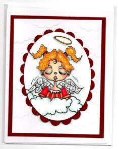 Angel handmade Christmas card