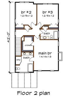 Contemporary Style House Plan - 3 Beds 2.5 Baths 2007 Sq/Ft Plan #79-316 - Houseplans.com Contemporary Style Homes, Contemporary Design, Kitchen Cabinets Elevation, Sims House Plans, Electrical Plan, Building Section, Ceiling Detail, Building Department, Roof Plan