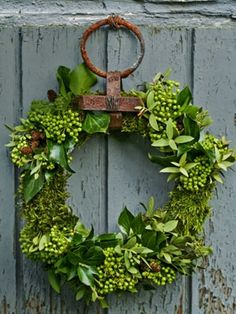 Rustic hanger and bright green: