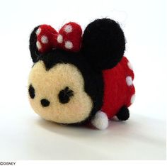 Disney Tsum Tsum Needle Felting Kit Minnie Mouse - Minnie Tsum Tsum - Wool Felt Kit - DIY