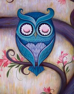Owl! Love this...too bold for me but beautiful artwork