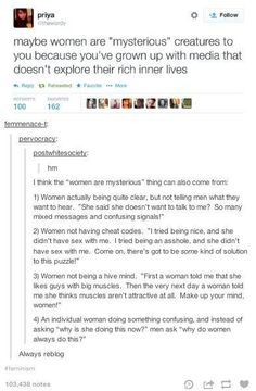 Women, not so mysterious after all.
