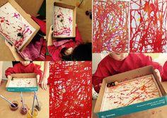 les petites têtes de l'art: Avec Margaux, peindre avec des billes
