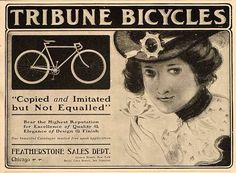 1901 Tribune bicycle ad. @brooksengland http://www.oldbike.eu/museum/1902-2/43524-2/ via @MurrMarie