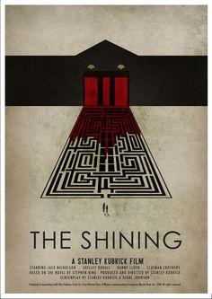 The Shining, Elevator, Maze, B,W,R
