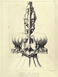 Gothic Ornaments (3) Plates by English architect, designer and theorist  Augustus Pugin