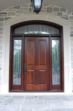 Solid Mahogany, 4 Panel Door With Sidelites U0026 Transom.