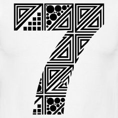 The number 7 Frames On Wall, Framed Wall Art, Seven Logo, Tribal Tattoos, Tatoos, Natural Number, 7 Seven, Mice, Typography Design