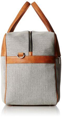 Amazon.com: Jack Spade Men's Oxford Leather Fairfield Duffle, Grey, One Size: Clothing