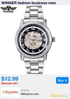 WINNER fashion business men mechanical watches luxury brand men's skeleton bracelet steel band watches male silver case relojes * Pub Date: 19:37 Jul 13 2017