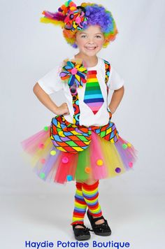 Girls+Circus+Carnival+Clown+Tutu+by+HaydiePotateeBoutq+on+Etsy,+$72.00