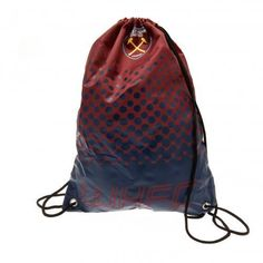 dabafb8d6a2b West Ham United F C - drawstring bag - metal eyelets - approx x flat - on a  header card - official licensed