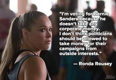 Ronda Rousey Is Endorsing Bernie Sanders for President in 2016