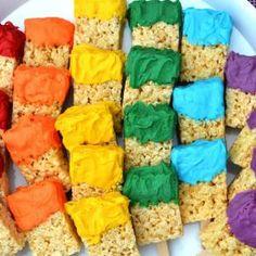 Brochas de arroz inflado