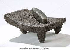 Photo about Volcanic Stone Utensil used for grinding corn, sauces and pastes by hand. Image of grinding, metate, basalt - 15424756 Diy Kitchen Storage, Home Decor Kitchen, Kitchen Tops, Kitchen Utensils, Cool Kitchen Gadgets, Cool Kitchens, Traditional Kitchen, Traditional House, Furniture Dressing Table
