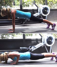 Get off the machine and do 15 pushups. Go straight into your third interval, rowing as fast as possible for 1 minute. Best Cardio Machine, Cardio Machines, Rowing Machines, Aerobic Exercises, Workouts, Shape Magazine, Live Fit, Keep Fit, How To Stay Healthy