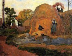 Montones de heno amarillo, 1889