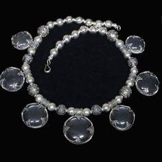 kostbares Gotland Bergkristall Collier 925Silber Bergkristall Anhänger L:43cm wenn der gatte mal wahnsinnig werden will