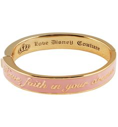 Pink Cinderella Have Faith In Your Dreams Bangle