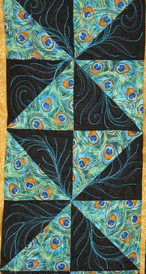 Ginnys Quilts: A Peacock quilt for Rhonda. @Meagan Bush