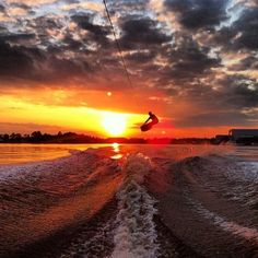 Photo: Our friend @stratacous posted up this gem and asked us to blast it. With a shot this golden how could we say no?   #wakeboarding #sunset #slampiece #wakeboard