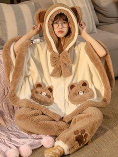 Kawaii Fashion, Cute Fashion, Girl Fashion, Fashion Outfits, Cute Lazy Outfits, Cute Pajamas, Matching Pajamas, Kawaii Clothes, Character Outfits