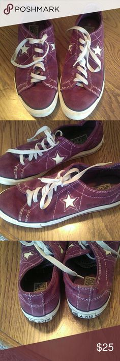 Maroon Converse Good condition. Size 9 1/2 Converse Shoes Sneakers