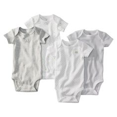 ba051f1ff Precious Firsts by Carters 4 Pack Bodysuit Set Gray 3 MONTHS (Gray that  says loved