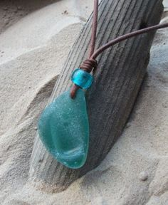 Seaglass Sea Glass Necklace, Sea Glass Jewelry, Stone Jewelry, Glass Beads, Rock Jewelry, Fused Glass, Pendant Necklace, Sea Glass Beach, Sea Glass Art