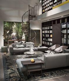 Éclectique ou épuré, bicolore ou décalé, mais toujours élégant et fonctionnel, le salon contemporain s'articule autour de deux ou trois éléments-clés, dont le canapé - Désirée - Zalf - Lema - Move