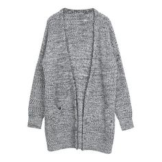 Kieran Cardigan ($85) ❤ liked on Polyvore featuring tops, cardigans, outerwear, jackets, grey, gray cardigan, gray top, grey top and grey cardigan