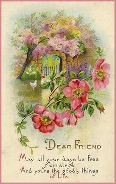 Vintage flowers pictures greeting card 52 Ideas for 2019 Vintage Birthday Cards, Vintage Greeting Cards, Post Cards Vintage, Vintage Valentines, Decoupage Vintage, Vintage Ephemera, Vintage Pictures, Vintage Images, Foto Transfer
