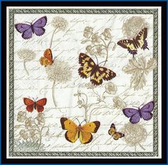4 Shabby Chic Nostalgic Paper Napkins Victorian by stampsandmore